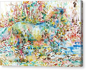 Horse Painting.20 Canvas Print by Fabrizio Cassetta