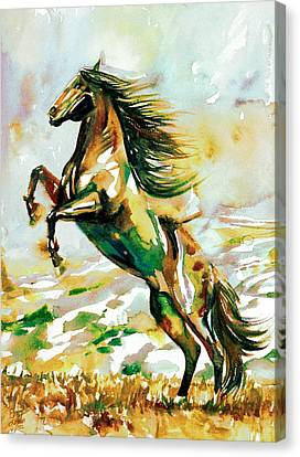 Horse Painting.25 Canvas Print by Fabrizio Cassetta