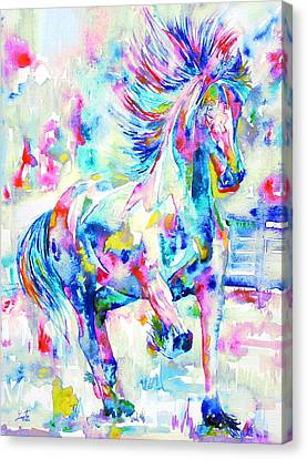 Horse Painting.3 Canvas Print by Fabrizio Cassetta