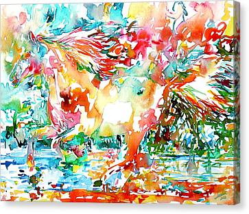 Horse Painting.34 Canvas Print by Fabrizio Cassetta