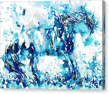 Horse Painting.35 Canvas Print by Fabrizio Cassetta