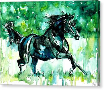 Horse Painting.42 Canvas Print by Fabrizio Cassetta