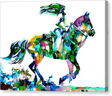 Horse Painting.6 Canvas Print by Fabrizio Cassetta