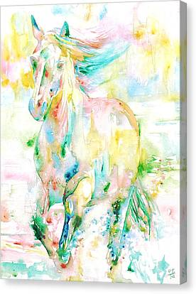 Horse Painting.9 Canvas Print by Fabrizio Cassetta