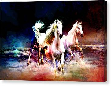 Horse Paintings 002 Canvas Print by Catf