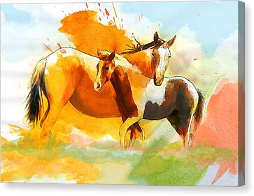 Horse Paintings 013 Canvas Print by Catf