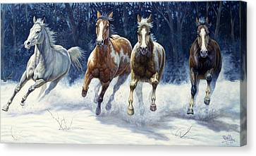 Horse Giclee Canvas Print - Horse Power by Gregory Perillo