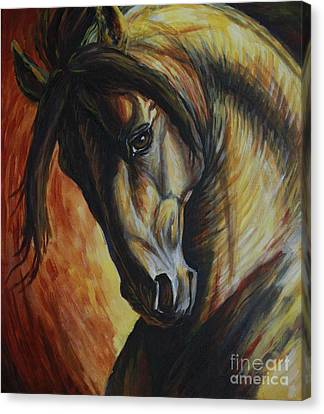 Horse In Art Canvas Print - Horse Power by Silvana Gabudean Dobre