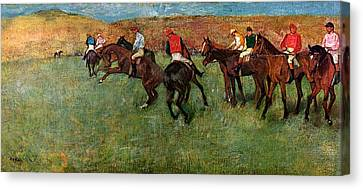 Horse Race Before The Start Canvas Print