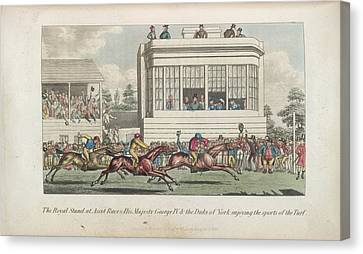 Horse Racing At Ascot Canvas Print