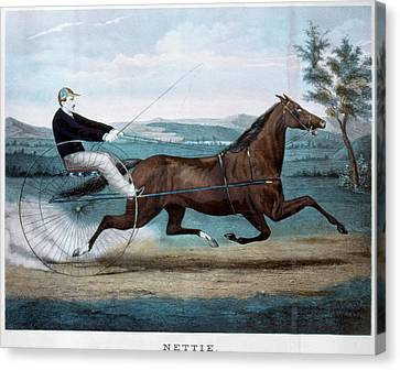 Horse Racing, C1874 Canvas Print by Granger
