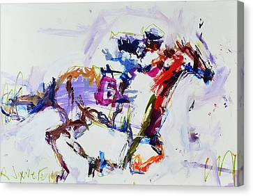 Horse Racing Print Canvas Print by Robert Joyner