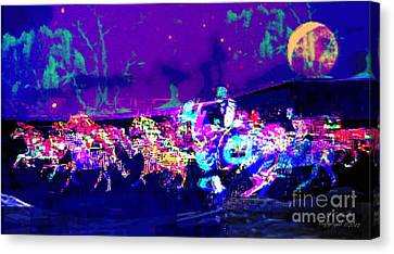 The Horse Raiders Digital Abstract Canvas Print by Larry Lamb