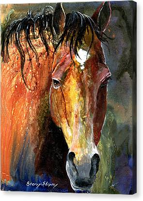 Horse Canvas Print by Sherry Shipley