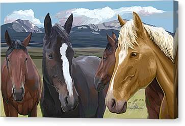 Horse Talk Canvas Print