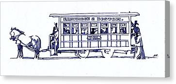 Horse Trolly  Canvas Print by Dale Michels
