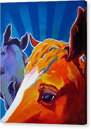 Horse - We Come In Peace Canvas Print by Alicia VanNoy Call