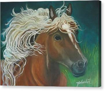 Canvas Print featuring the painting Horse by Yolanda Rodriguez