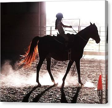 Horseback Riding Lessons Canvas Print