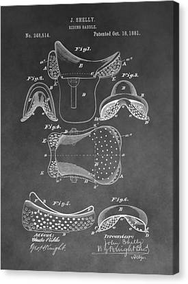 Horseback Saddle Patent Canvas Print by Dan Sproul