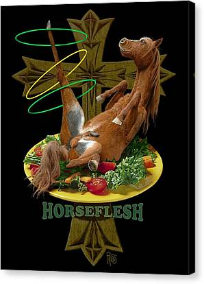 Horseflesh Canvas Print by Scott Ross