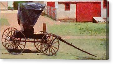 Horseless Carriage Canvas Print by Jeff Kolker