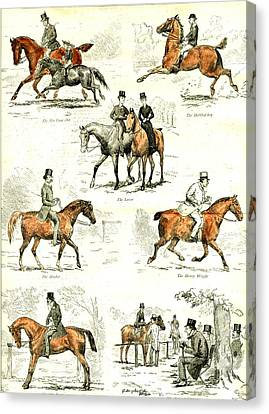 Horsemanship U.k Canvas Print by English School