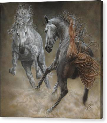 Horseplay II Canvas Print