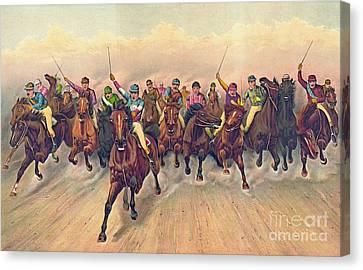 Horserace 1888 Canvas Print