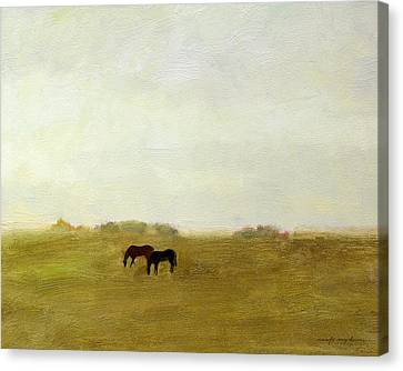 Horses Afield Canvas Print