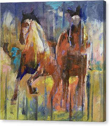 Horses Canvas Print by Michael Creese