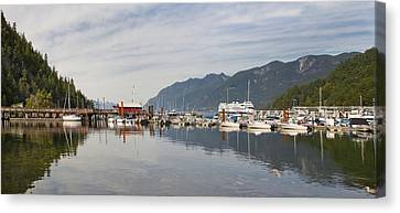 Canvas Print featuring the photograph Horseshoe Bay Vancouver Bc Canada by JPLDesigns