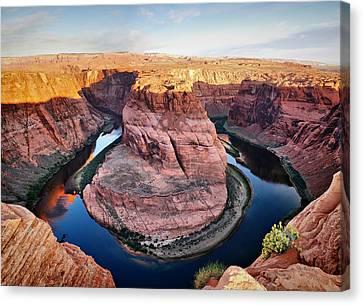 Horseshoe Bend At Sunrise - Page Arizona Canvas Print by Gregory Ballos