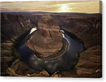 Horseshoe Bend Canvas Print by Larry Marshall