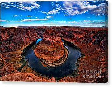 Horseshoe Bend Canvas Print by Peter Dang