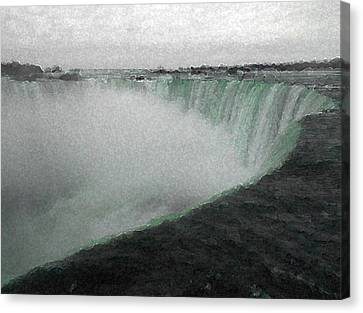 Horseshoe Falls In Winter Canvas Print