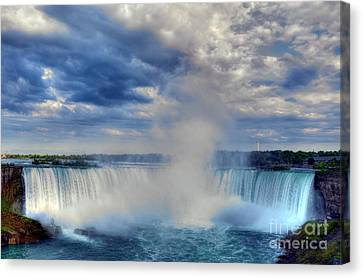 Water Flowing Canvas Print - Horseshoe Falls by Mel Steinhauer