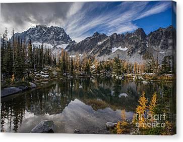 Alpine Canvas Print - Horseshoe Lake Cloud Dramatic by Mike Reid