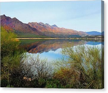 Verde River Canvas Print - Horseshoe Lake by Gordon Beck