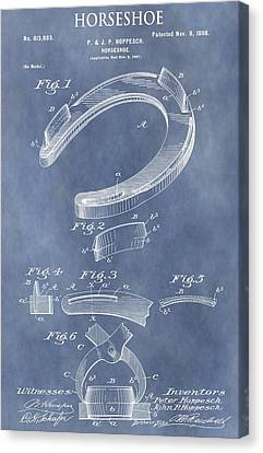 Horseshoe Patent Canvas Print by Dan Sproul