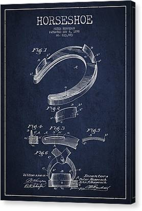 Horseshoe Patent Drawing From 1898 Canvas Print by Aged Pixel