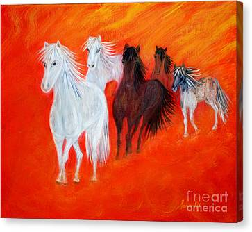 Horses.soul Collection. Canvas Print by Oksana Semenchenko