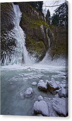 Canvas Print featuring the photograph Horsetail Falls 120813b by Todd Kreuter