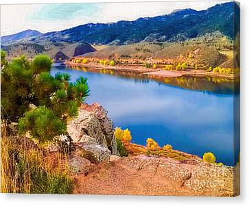 Horsetooth Lake Overlook Canvas Print by Jon Burch Photography