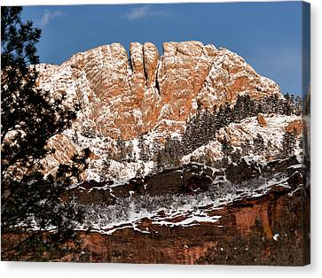 Horsetooth Mountain Canvas Print by Paul Berger