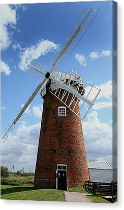 Horsey Windpump Canvas Print by Paul Lilley