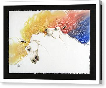Horsin Around Number Ten Canvas Print by David  Chapple