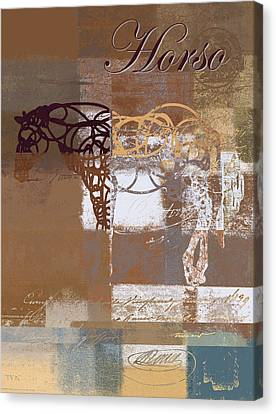 Horso - S03bgmc1tx Canvas Print by Variance Collections