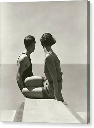 The Bathers Canvas Print by George Hoyningen-Huene