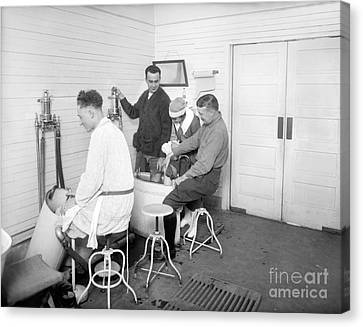 Hot Nurses Canvas Print - Hospital Hydrotherapy, 1920s by Library Of Congress